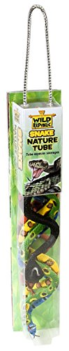 Wild Republic 12884 - Nature Tube Spielset, Schlangen, 32 cm (Rohr-schlangen)
