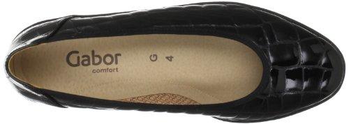 Black Piquet Nero Gabor Patent Donna Schwarz Ballerine YyBBdq