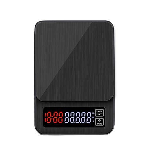 Jinzuke LCD-Digital-elektronische Drip Coffee Skala-Digital-Kaffee Gewicht Haushalt Drip-Skala Timer 3kg / 5kg