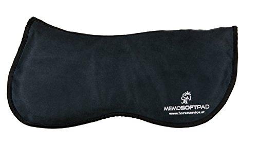 MemoSoftPad schwarz, Sattelunterlage aus Tempur Memoryschaum