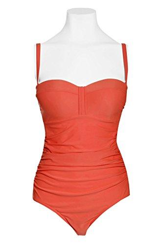 next Donna Costume Da Bagno A Fascia Modellante Rosso EU 42