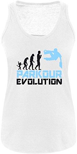 EZYshirt® Parkour Evolution Damen Tanktop Weiß/Schwarz/Hellbl