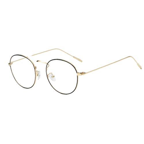 Hibote Männer Frauen Rund Brille - Klare Linse Brillengestell - Mode Brillen Eyewear - 18082305