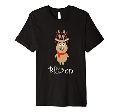 Blitzen Rentier Shirt für Kinder 9 Stück ()