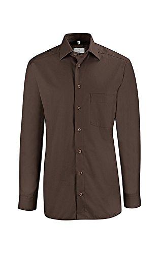 Greiff Herren-Hemd BASIC, Regular Fit, Stretch, easy-care, 6665, mehrere Farben Braun