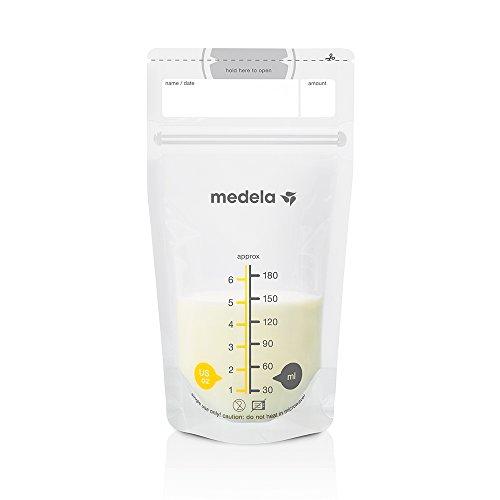 Medela Muttermilchbeutel, hygienisch, platzsparend, auslaufsicher (25 Stück)