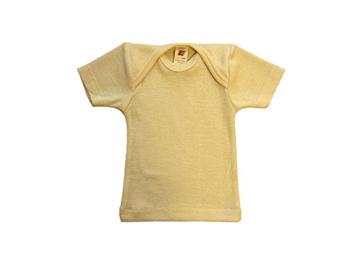 Baby Unterhemd kurzarm, Wolle Seide, Engel Natur, Gr. 74/80