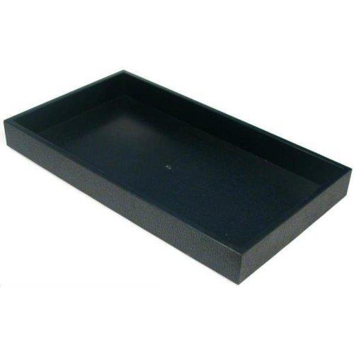 Findingking Lot Plastique Noir Bijoux unité de récipient de stockage Plateau d'affichage