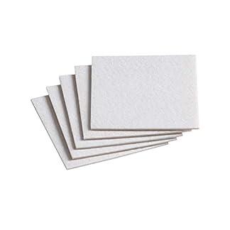 Meister 645346 Patine para desplazar muebles, blanco, 100 x 100 mm, Set de 5 Piezas