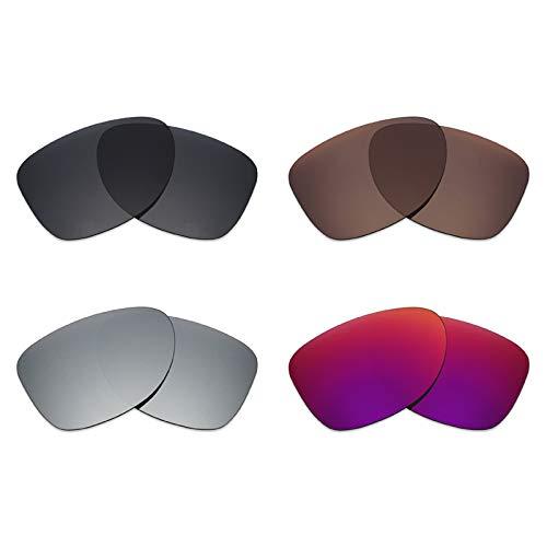 Mryok polarisierte Ersatzgläser für Oakley Dispatch 2 Sonnenbrillen - Stealth Black/Bronze Brown/Silver Titanium/Midnight Sun
