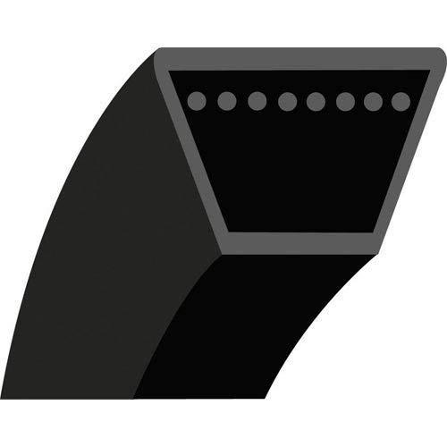 4LK87 : Courroie lisse trapézoïdale pour Tondeuses autoportées CRAMER Tourno Pick-Up - Section 1/2'' (12.7 mm) - 12.7x8 mm - Longueur extérieure: 87