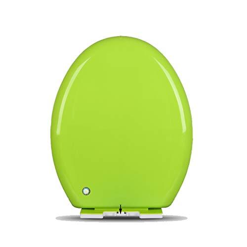 DNSJB Universal-WC-Sitz O/V/U-Typ Antibakterielle Farbe Schnellverschluss Absenkautomatik WC-Deckel (Color : Green, Size : O-Shaped) - Wc-sitz-kommode