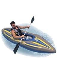 intex 68305 challengeer kayak k1 274x76x33cm de los remos, bomba de