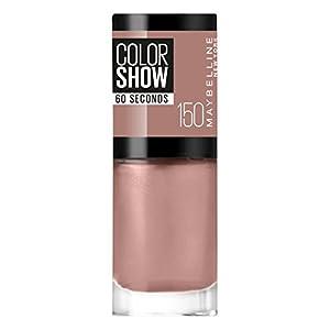 Gemey Maybelline ColorShow–Esmalte de uñas – 150Mauve Kiss – Color: beige