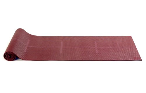 Yogistar Plus Alignment - Esterilla de yoga, color rojo