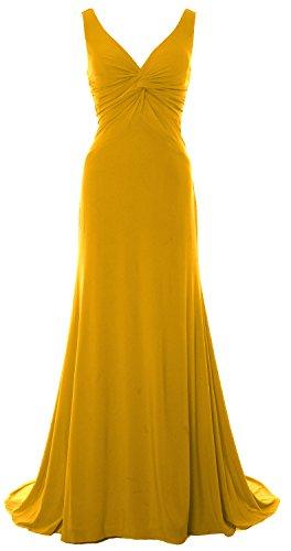 MACloth -  Vestito  - fasciante - Senza maniche  - Donna Gold 52