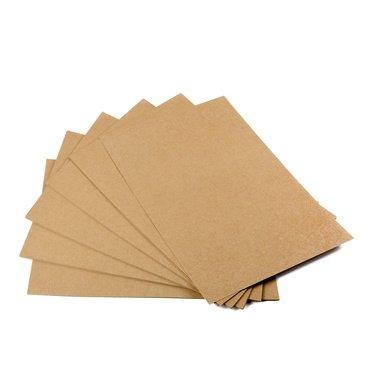 festes papier Kraftpapier, 50 Blätter, DIN A4, Naturkarton, hochwertige Qualität, Brown Natural Craft Card, Kraftkarton 170 g Qualität