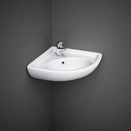 Lavabo sospeso ad angolo 44x36x19,5 lavandino per bagno salvaspazio I