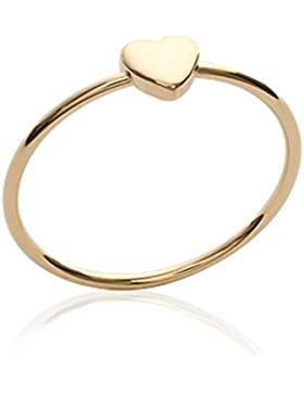 ISADY - Eula Gold - Damen-Ring - 18 Karat (750) Gelbgold platiert - Herzen