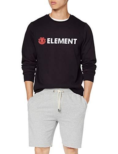 Element Herren Blazin Crew Fleece, Flint Black, L Element-fleece-sweatshirt