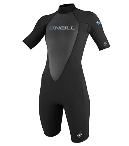 O'Neill Wetsuits Damen Neoprenanzug Reactor 2 mm Spring Wetsuit, Black, 14 -