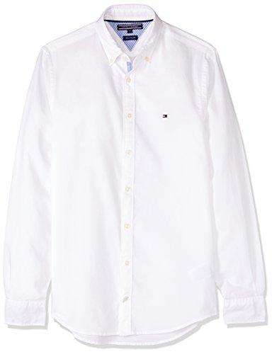 Tommy Hilfiger Herren Freizeithemd Ivy Oxford, Weiß - Weiß, L (Button Hemd Down Tommy Hilfiger)