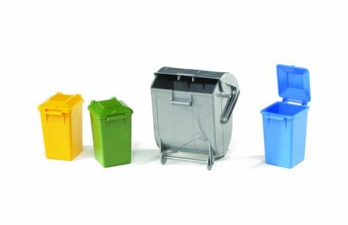 Bruder 2606 - Set de cubos de basura de...