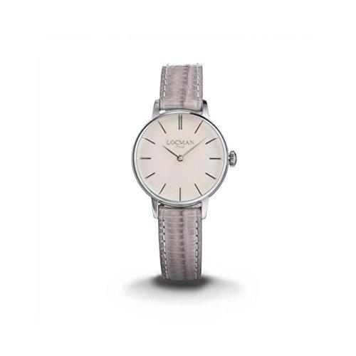 Locman reloj mujer 0253a10a-00cinkpv al cuarzo (batería) acero quandrante Rosa Correa Piel