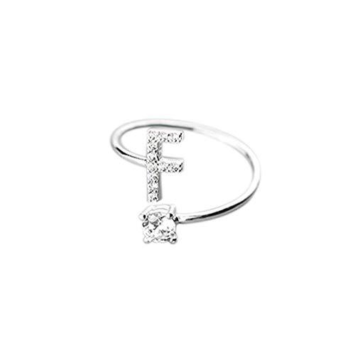 Floweworld Mode Einfache Ring Damen Ajustable Open Ring 26 Buchstaben Mit Diamant Ring Damen Schmuck Zubehör Geschenk