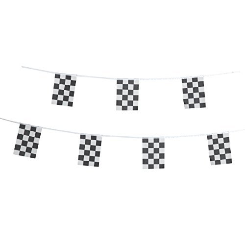 tsmd 100Fuß schwarz & weiß karierte Flagge Racing Pennant Banner Flaggen, Party Dekorationen Supplies für Racing, Rennen Auto Party, Sport Events, Kinder Geburtstag, Internationales Festival Events