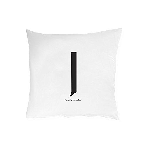 Design Letters - Kissenbezug - J - 100{b2c24f2b631365628f3afa1614276f81891c519d6a96b420b0b9445b8637166b} Baumwolle - 80 x 80 cm