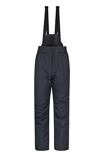 Mountain Warehouse Pantalon de Ski Hommes Dusk - Deux Poches, guêtres de Ski, Taille élastique, déperlant - Idéal pour Ski et Snowboard Noir M