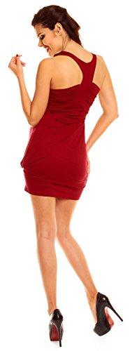 Zeta Ville - abito prémaman - fondo a palloncino tunica - top - donna - 024c Crimson