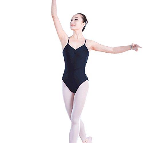 Raptas (TM) Nuovo arrivo adulti Girls nero Backless Body da danza, balletto donna Body a canottiera Body da ginnastica, Black, large