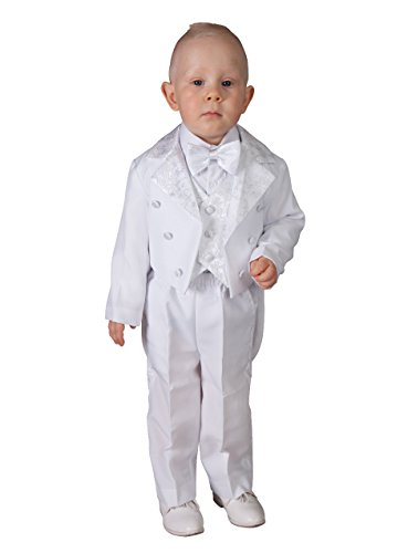 (Kostüm Frack Baby bis 6Jahre weiß oder elfenbeinfarben–Produkt Gespeichert und verschickt Schnell seit Frankreich Gr. 62, weiß)