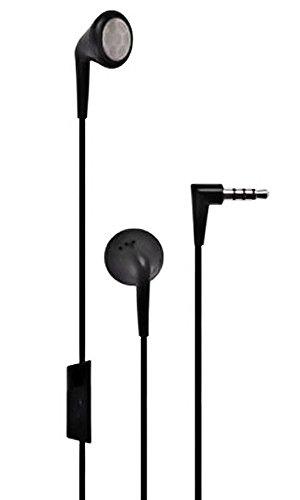 01 Handy Stereo Headset mit Anrufananhme und Mikrofon - Schwarz - für kompatible BlackBerry Mobiltelefone ()