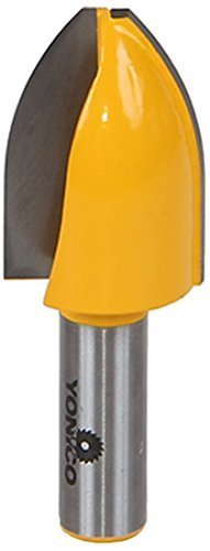 Yonico 12145 Panel Raiser Router Bit with Vertical Cove 1/2-Inch Shank by Precision Bits.com