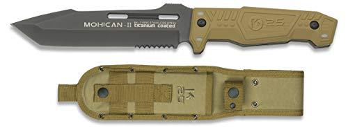Cuchillo K25 Mohican II Titanium c 15,8 para Caza, Pesca, Camping, Out