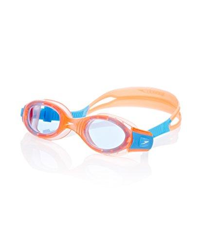 Speedo Unisex - Kinder Schwimmbrille Futura Biofuse, orange/blue, one size, 8-012339106