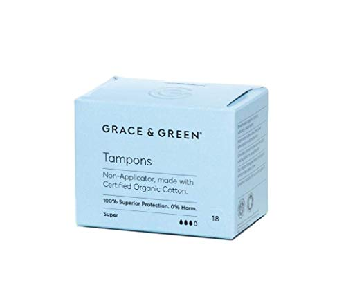 Grace & Green, tampones premium 100% algodón orgánico