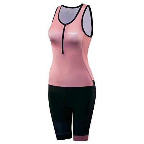 Lo. Gas LoGas Frauen Short Sleeve Triathlon Race Anzug/2014Radfahren Skinsuit Quick Dry Atmungsaktiv für Schwimmen Laufen und Training, Hellbraun, X-Large