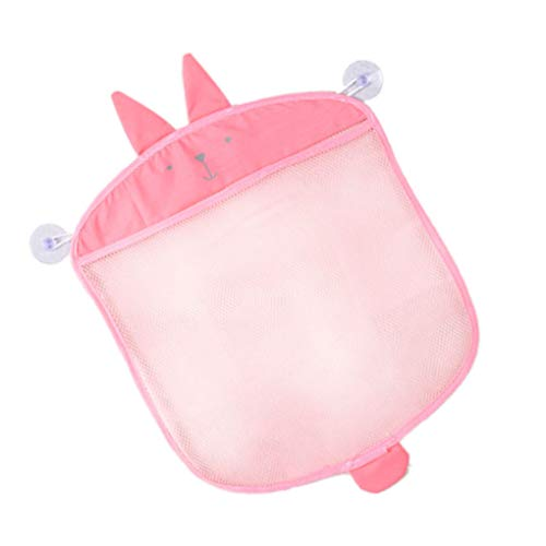 Dpolrs Cartoon Wandbehang Badezimmer-Speicher-Beutel gestrickte Netz-Ineinander greifen-Tasche Baby-Bad-Spielzeug Shampoo-Organisator-Behälter (Hängende Dusche Caddies)