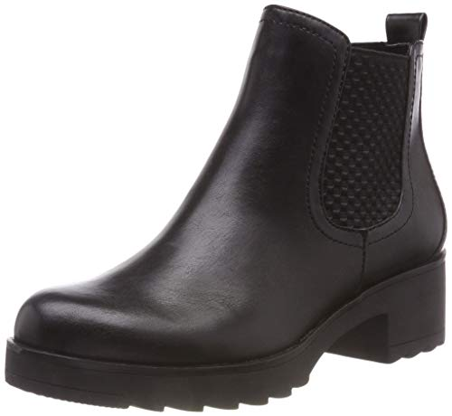 MARCO TOZZI Damen 25806-21 Chelsea Boots, Schwarz (Black Antic 002), 39 EU