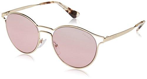 Prada Damen 0PR62SS ZVN095 53 Sonnenbrille, (Pale Gold/Violet Silver)