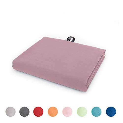 Lumaland Mikrofaser Handtücher Ultra saugfähig Leichte Badetücher 90 x 180 cm Pink