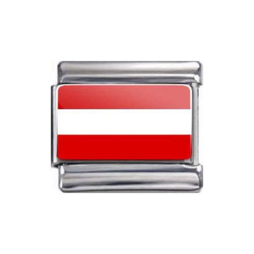 Italian Charms Modul Nationalflagge Österreich ...by (Modeschmuck Österreich)