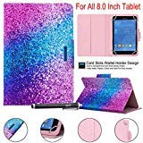 Universal 8.0 inch Tablet case, newshine Magnetic Closure flip Stand Cover with Card/Cash