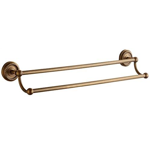 Weare Home Alle Kupfer Doppel-Handtuchhalter Messing Gelb Bronze Retro Vintage, Wandmotage Wandhalter extra Stark (Bronze Doppel-handtuchhalter)