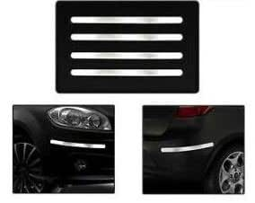 Hotwheelz Premium Quality Stainless Steel Chrome Bumper Protector Guard for - Ford Old Figo(Set of 4)