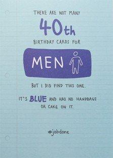 Male Humour 40th Birthday Card (PLK0010)